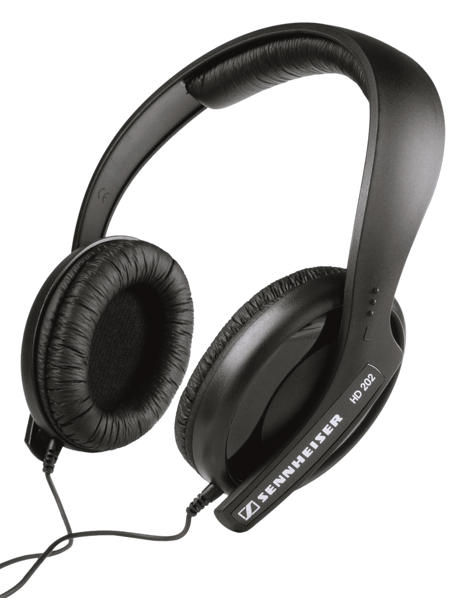 Kvalitets høretelefoner fra Sennheiser (HD-202 II) til din iPod eller iPhone!