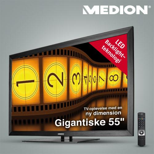 Kæmpe LCD-tv i Aldi