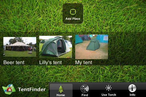 Find tilbage til dit telt på festival med TentFinder app!